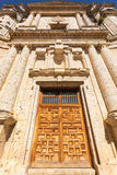 Impressive entrance door in Monastery of the Santa Espina Royalty Free Stock Photos