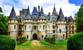 Impressive fairy tale castles of France,  il de france region Stock Photos