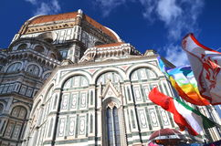 Impressive famous marble cathedral Santa Maria del Fiore in Florence, Italy Stock Photo