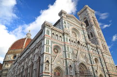 Impressive famous marble cathedral Santa Maria del Fiore in Florence, Italy Stock Photos