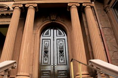 Impressive front entrance of historic Victoria Mansion,Portland,Maine,2016 Royalty Free Stock Images