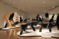 Impressive furniture created by the late Wendell Castle, Memorial Art Gallery, Rochester, New York, 2017. Image of gorgeous furniture that look like sculptures stock images