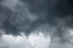Impressive gray clouds in the sky Stock Image
