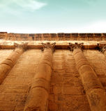 Impressive greek wall. Impressive ancient wall to the sky stock photography