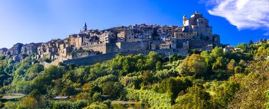 Traditional medieval hilltop villages of Italy- Grotte di Castro Royalty Free Stock Images