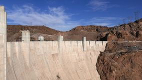 Impressive Hoover Dam in Nevada in 4k. Video clip stock footage