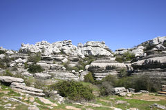 Impressive karst landscape in Spain Stock Images