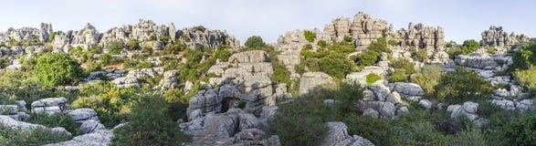 Impressive karst landscapes at Torcal de Antequera, Malaga, Spai Royalty Free Stock Photos