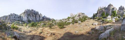 Impressive karst landscapes at Torcal de Antequera, Malaga, Spai Stock Photography