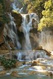 Impressive Kuang Si Waterfall, Luang prabang Laos stock photography