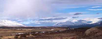 Impressive landscape in the north of Iceland Stock Photo