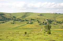 Impressive landscape at the Pester Plateau in Serbia Royalty Free Stock Images