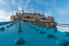 Impressive low angle view of the tower bridge Royalty Free Stock Photos