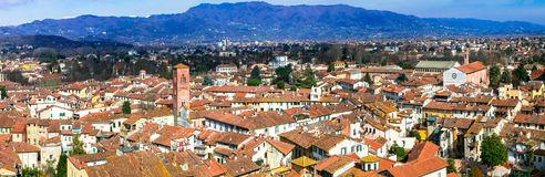 Landmarks of Italy - beautiful medieval town Lucca in Tuscany. C royalty free stock photo
