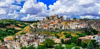 Beautiful medieval villages (borgo) of Italy - scenic Melfi in Basilicata. stock images