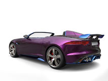 Impressive modern super sports car, metallic purple and blue paint Stock Photos