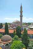 Impressive Mosque of Suleiman in medieval Old Town of Rhodes Royalty Free Stock Images