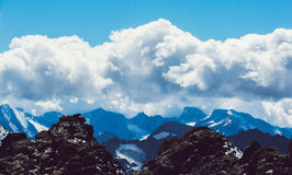 Impressive mountain panorama swiss alps Stock Images