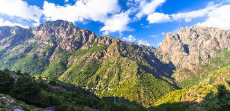 Impressive mountains of Corsica island Royalty Free Stock Images
