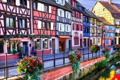Impressive multicolored Colmar in Alsace, France Stock Photo