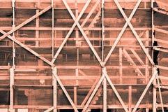 Impressive orange grayish orangish framework outside of a buildi Royalty Free Stock Image