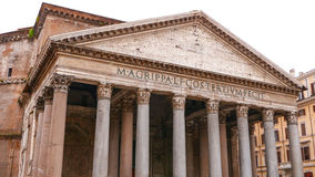 The impressive Pantheon building in the historic city center of Rome stock image
