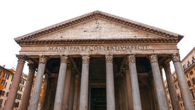 The impressive Pantheon building in the historic city center of Rome royalty free stock photography