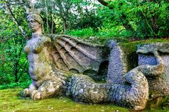 The park of Monsters of Bomarzo - landmarks of Italy stock photography