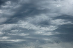 Impressive pattern of clouds before rain Royalty Free Stock Photography
