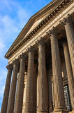The impressive pillars at St. George's Hall Stock Image