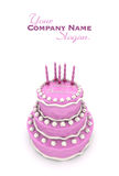 Impressive pink birthday cake Stock Photography