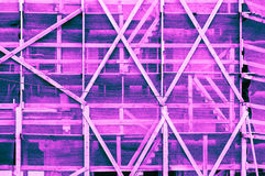 Impressive pink blue purplish turquoise bluish violet framework. Outside of a building ukrainian style. Fine artistic backgrounds of almost gray resulting from Royalty Free Stock Photo