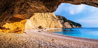 Impressive Porto Katsiki beach,Lefkada island,Greece. royalty free stock image
