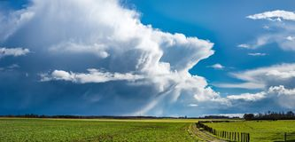 Impressive powerful huge clouds with interesting forms over the. Valley, France Stock Photos