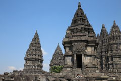 The impressive Prambanan Hindu temple complex Stock Photos