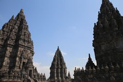 The impressive Prambanan Hindu temple complex Royalty Free Stock Photography