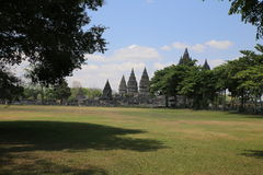 The impressive Prambanan Hindu temple complex Royalty Free Stock Image