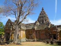 The Impressive Prasat Hin Phanom Rung Ancient Khmer Temple under Vivid Blue Sky. Thailand Stock Photography