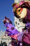 Impressive purple beautiful gold mask Royalty Free Stock Photo