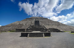 Impressive Pyramid of the Sun in Teotihuacan Stock Photography