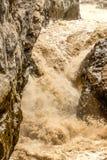 Impressive River Rapids Crossing Basaltic Rock Royalty Free Stock Photo