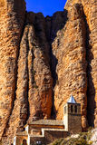 Impressive rocks -  Mallos de Riglos. Incredible rocks -  Mallos de Riglos (province of Huesca, Spain Stock Photo