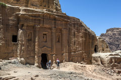 The impressive ruins of the Soldier Tomb at Petra in Jordan. Royalty Free Stock Photo