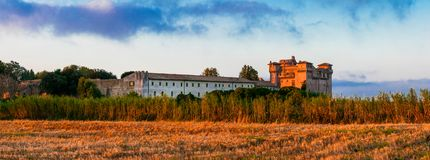 Medieval castles of Italy - Castello di Santa Severa on the beac Stock Images