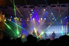 Impressive concert scene and crowd Royalty Free Stock Photo