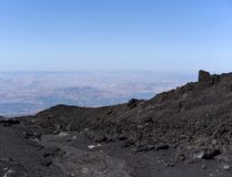 An impressive view of the Etna - the highest active volcano in Europe. Situated in Sicily Stock Photography