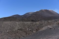 An impressive view of the Etna - the highest active volcano in Europe. Situated in Sicily Stock Images