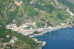 Impressive scenic view of town maiori on amalfi co Stock Photo