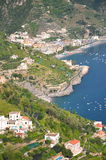 Impressive scenic view of town maiori on amalfi co Royalty Free Stock Photos
