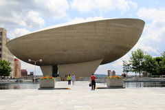 Impressive sight of performing arts event venue, The Egg,Empire State Plaza,Albany,New York,2015 Stock Image